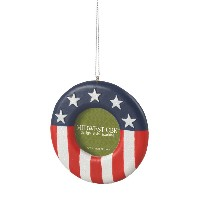 CBK Red, White & Blue Patriotic Photo Ornament