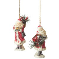 Midwest Santa Ornament With Bird Or Wreath
