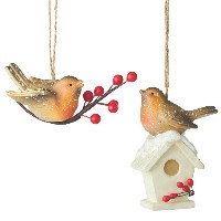 Midwest English Robin Ornament