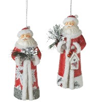 Midwest Santa Ornament With Bird Or Birdhouse