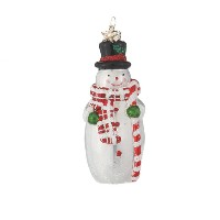 CBK Snowman With Candy Cane Ornament