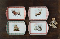 Woodland Animal Image Plastic Tray
