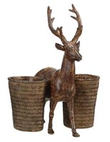 Creative Co-op Resin Deer W Cups