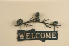 Country Pine Welcome Sign