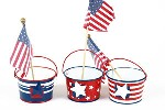 Patriotic Pail Tealight Set