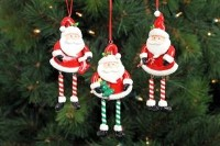 Santa Dangle Leg Ornaments