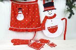 Mommy & Me Snowman Apron Set
