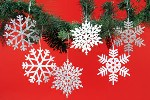 Glittered Snowflake Ornaments