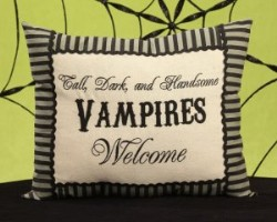 Vampires Welcome Pillow