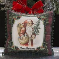 Merry Christmas St Nick Pillow