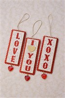 Valentine Banner Flag Ornaments