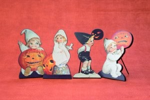 Halloween Vintage Children Cut Outs