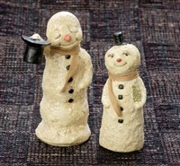 Mr & Mrs Snowman Set