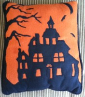 ESC Haunted House Pillow