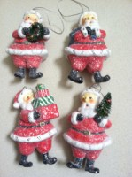 Retro Santa Ornaments