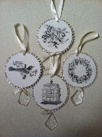 ESC Vintage Chic Disc Ornaments
