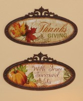 Vintage Tin Thanksgiving Sign