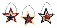 Patriotic Tin Star Ornaments