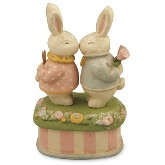 Bethany Lowe Boy & Girl Bunny Box