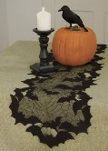 Heritage Lace Going Batty Table Runner