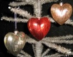 KD Vintage Mercury Glass Heart Ornaments