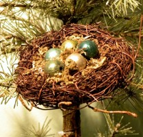 KD Vintage Natural Nest Clip Ornament