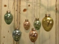 KD Vintage Mini Glass Egg Ornaments