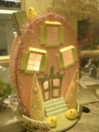 KD Vintage Lighted Easter House