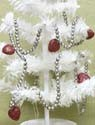 KD Vintage Silver Bead & Heart Garland