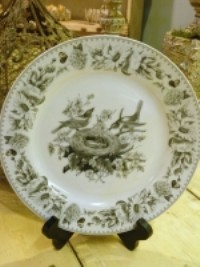 KD Vintage Bird's With Nest Plate