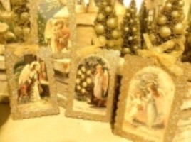 KD Vintage Glittered Angel Ornaments