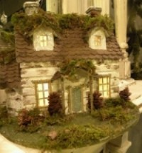 KD Vintage Mossy Woodland House Medium