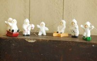 Tiny Snow Babies Ornament Set