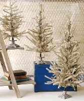 Platinum Tinsel Tree