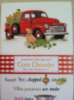Mary Lake-Thompson Corn Chowder Recipe Towel