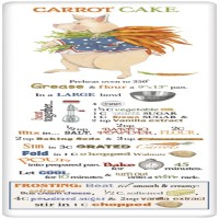 Mary Lake-Thompson Carrot Cake Recipe Towel