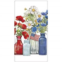 Mary Lake Thompson Patriotic Flowers Towel