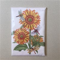 Mary Lake Thompson Sunflower Dragonfly Towel