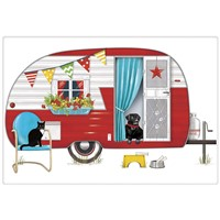 Mary Lake Thompson Red Camper Towel