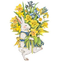 Mary Lake-Thompson Bunny Bouquet Dishtowel