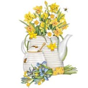 Mary Lake-Thompson Honey Teapot Daffodil Towel