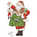 Mary Lake-Thompson Toy Santa Towel
