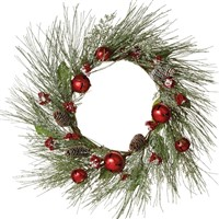 Midwest Pine Wreath With Red Bells