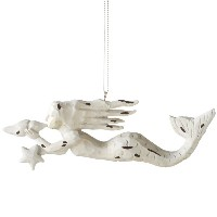 Midwest Mermaid White Shell Star Ornament