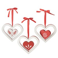 Midwest Wooden Heart Ornaments