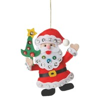 Midwest Santa With Sequins Ornament