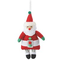 Midwest Santa With Striped Legs Ornament