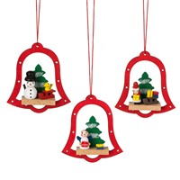 Midwest Bell Scene Wood Ornament