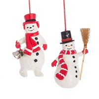 Midwest Snowman In Hats Ornaments