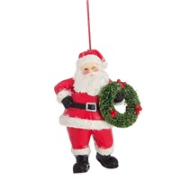 Midwest Santa Ornament With Wreath